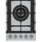 Plita incorporabila Beko HIAW75225SX, Gaz, 5 arzatoare, Aprindere electrica, Gratar din fonta, Inox