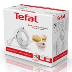 Mixer Tefal Easy Max HT2501B1, Putere 200 W, 5 trepte de viteze, 2 seturi de teluri, Alb