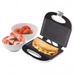 Sandwichmaker Home Panini HG P 01, Putere 750 W, Suprafata antiaderenta, 2 sandwich-uri, Alb