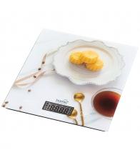 Cantar de bucatarie Home HG M 05, Greutate maxima 5 Kg, Precizie 1 g, Functie tara, Alb