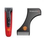 Aparat de tuns barba Beard Boss Remington Manchester United Edition MB4128, 9 trepte de taiere, Rosu