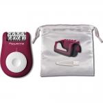 Epilator EP1120F0 Rowenta Easy Touch, 24 pensete, 2 viteze, 3 accesorii, Sistem de bile pentru masaj, Roz