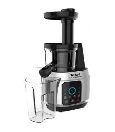 Storcator Tefal Juice N' Clean ZC420E38, Putere 150 W, Capacitate 0.8 l, 4 viteze, Reverse, Easy Clean, Negru/Gri