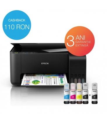 Multifunctional EPSON ECOTANK L3110, Inkjet, CISS, Color, Format A4, Negru