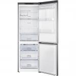 Combina frigorifica Samsung RB33J3030SA/EF, Clasa A+, Capacitate 328 l, No Frost, Compresor digital inverter, H 185, Argintiu