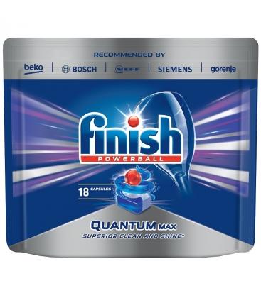 Detergent vase pentru masina de spalat vase FINISH Quantum 18 tablete