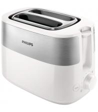 Prajitor de paine PHILIPS HD2515/00, Putere 830 W, 2 felii, Dezghetare, Alb/Inox