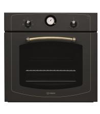 Cuptor incorporabil Indesit IFVR 500 AN, Clasa A, Capacitate 56 l, 6 functii, Grill, Timer, Ventilator, Negru