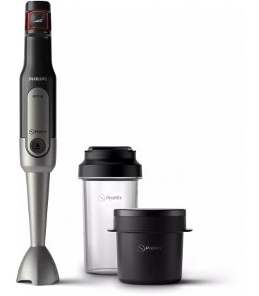 Mixer vertical Philips Viva Collection HR2651/90, Putere 800 W, ProMix, Pahar 500 ml, Recipient supa 300 ml, Negru