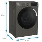 Masina de spalat rufe Beko WUE8736XCM, Clasa A+++, 1400 rpm, Capacitate 8 Kg, SteamCure™, HomeWhiz, Antracit