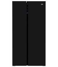 Side by Side Beko GN163130ZGB, Clasa A++, Capacitate 558 l, NeoFrost™, Active Fresh Blue Light™, Negru