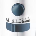 Mixer de mana Siemens MQ95520N, Putere 350 W, 5 trepte de viteza, Functie Turbo, Alb