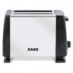 Prajitor de paine Zass ZST 08A, Putere 800 W, Capacitate 2 felii, 5 trepte de putere, Argintiu