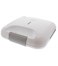 Sandwich maker Well Yummy, Putere 750 W, Placi antiaderente, Protectie supraincalzire, Alb