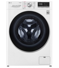 Masina de spalat rufe LG F4WN609S1, Clasa D, Capacitate 9 Kg, 1400 rpm, Direct Drive, Turbo Wash, Steam, WiFi, Alb