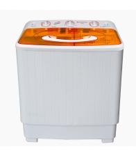 Masina de spalat rufe semiautomata Vortex VO1500, Capacitate Spalare 6 kg, Stoarcere 5 kg, Alb/Portocaliu