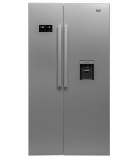 Side by side Beko GN163221S, Clasa A+, Capacitate 554 l, NeoFrost™, Ion Guard®, Dispener apa, H 179 cm, Argintiu