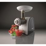 Masina de tocat carne Gorenje MG1800SJW, Putere 1800 W, Capacitate 2.2 Kg/min, Functie Reverse, Accesoriu suc, Alb/Negru