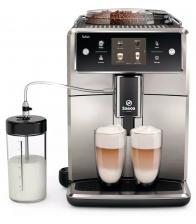 Espressor automat Philips Saeco Xelsis SM7683/00, Latteduo, 15 selectii , 6 profiluri, Rasnita ceramica, Ecran tactil, Inox