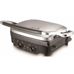 Grill electric Arielli ACG-3353BS, Putere 1800 W, Temperatura ajustabila 100-220 grade, Placi antiaderente, Argintiu