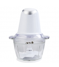 Minitocator Arielli AMC-363AKW, Putere 500 W, Capacitate 1 l, Bol din sticla, Cutite inox, Alb