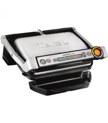 Gratar electric Tefal OptiGrill+ GC712D34, Putere 2000 W, 6 programe automate, Placi antiaderente, Argintiu