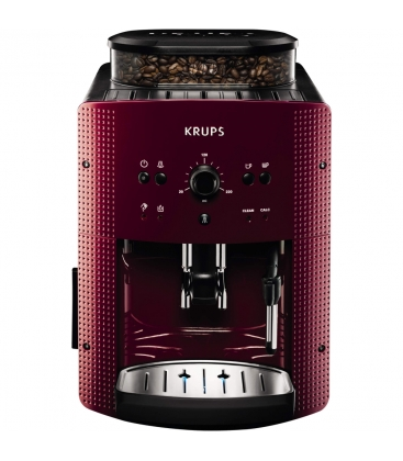 Espressor automat KRUPS Espresseria EA810770, Putere 1450 W, Capacitate 1.7 l, Rasnita, Sistem Thermoblock, Rosu
