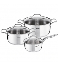 Set 6 vase TEFAL Intuition A702S685, 6 piese, 1.3-4.9 l, 18-24 cm, Inox