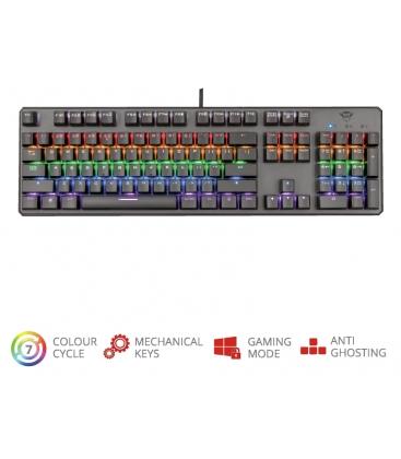 Tastatura mecanica Trust GXT 865 Asta, Linear Switch, USB, Iluminare RBG, Negru