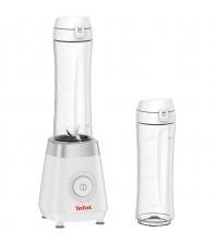 Blender Tefal Fresh & Go BL1KJ131, Putere 300 W, 4 lame, 2 vase de 0.6 l, Alb