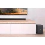 Soundbar Philips HTL1520B/12, Putere 110 W, Subwoofer wireless, Bluetooth, Aux, HDMI ARC, Intrare digitala optica, Negru