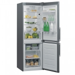 Combina frigorifica Whirlpool W5811EOXH, Clasa A+, Capacitate 336 l, 6th Sense, Less Frost, H 189 cm, Inox