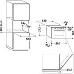 Cuptor cu microunde incorporabil Whirlpool AMW 730/SD, Putere 1000 W, Capacitate 31 l, 6th Sense, Jet Start, Grill, Argintiu