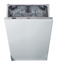 Masina de spalat vase incorporabila Whirlpool WSIC 3M17, Clasa A+, Capacitate 10 seturi, 6 programe, 45 cm, Alb