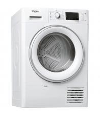 Uscator de rufe cu pompa de caldura Whirlpool FTM229X2SEU, Clasa A++, Capacitate 9 Kg, 6th Sense, Alb