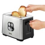 Prajitor de paine Tefal TT420D30, Putere 900 W, 2 felii, Functie de dezghetare si reincalzire, 7 niveluri, Inox