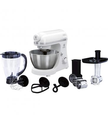 Robot de bucatarie Electrolux EKM3710, Putere 800 W, Blender, Masina de tocat, Bol inox 4.1 l, Alb