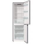 Combina frigorifica Gorenje NRK6191ES4, Clasa A+, Capacitate 302 l, NoFrost Plus, IonAir, Multiflow 360°, AdaptCool, Argintiu