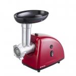 Masina de tocat Vortex VO4018RD, Putere 1600 W, Capacitate 1 Kg/min, 3 site inox, Accesoriu suc de rosii, Rosu