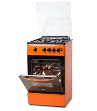 Aragaz LDK 5060 GRAI Orange NG,  4 Arzatoare, Siguranta, Grill, Rotisor, Aprindere, Iluminare, Capac sticla, 50 cm, Portocaliu