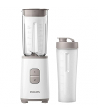 Blender Philips Daily Collection Mini HR2602/00, 350 W, recipient 1 L, 2 viteze, Alb