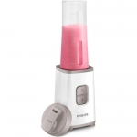 Mini blender Philips HR2603/00, 350 W, 1 L, 2 viteze, recipient on-the-go, multitocator, Alb