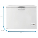 Lada frigorifica Beko HSA24540N, Clasa A++, Capacitate 230 l, Alb