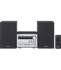 Microsistem audio Panasonic SC-PM250ECS, Putere 20 W, Bluetooth, USB, DVD, Radio FM, Argintiu