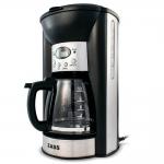 Cafetiera Zass ZCM 03T, Putere 1000 W, Capacitate 1,25 l, 12 cesti, Mentinere cald, Negru
