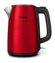 Fierbator Philips Daily Collection Kettle HD9352/60, Putere 2200 W, Capacitate 1.7 l, Mentinere la cald, Oprire automata, Rosu