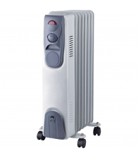 Calorifer electric Vortex YLA067, Putere 1500 W, 7 elementi, 3 trepte de putere, Termostat, Alb