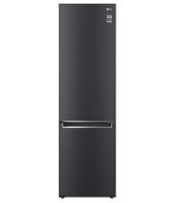 Combina frigorifica LG GBB62MCJMN, Clasa E, Capacitate 384 l, No Frost, Compresor Smart Inverter, SmartDiagnosis, Negru