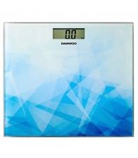 Cantar electronic Daewoo DBS210AB, Greutate maxima admisa 150 Kg, Display LCD, Albastru