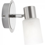Aplica de perete Globo Kati 54913-1, Soclu E14, Abajur sticla, Argintiu